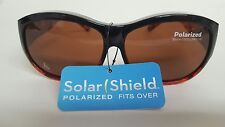 Lot of 2 Solar Shield fits over Large Polarized sunglasses 70983 New