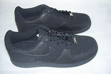 New! Men's Nike Air Force 1 Casual Shoes Style 488298-020 Size 8.5 Black 20Q