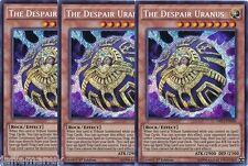 Playset 3 x The Despair Uranus - DRL3-EN009  - Secret Rare 1st Ed