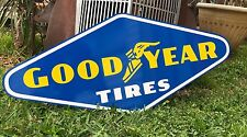 Antique Vintage Old Look Good Year Tires Gas Oil Sign Porcelain Look 30 inches