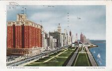 Carte postale ancienne ETATS-UNIS USA CHICAGO the stevens stamped 1947
