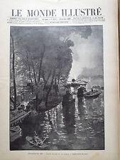 LE MONDE ILLUSTRE 1899 N 2221 LES TRAVAUX DE NUIT AU QUAI D'ORSAY POUR L'EXPO