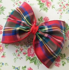 Tartan Bow Hair Clip Stewart Tartan Black Red Green Blue Yellow Hair Clip