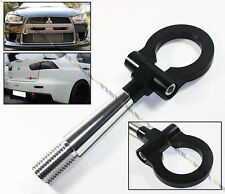 08-2014 LANCER EVO X 10 MR BLK FRONT/REAR FOLDING SCREW ON STYLE RACING TOW HOOK