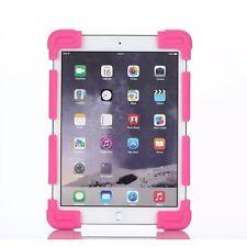 Funda Universal Silicona y Soporte para Tablet de 7 y 8 Pulgadas Rosa