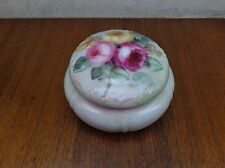 Vintage JPL Jean Pouyat Limoges France Porcelain Powder Trinket Jar Roses #2 VgC
