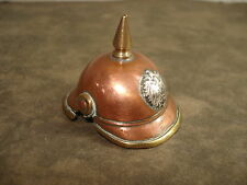 ARTISANAT de Tranchée POILU 14 18 TRENCH ART  WW1 CASQUE à POINTE Miniature