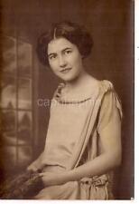 Elegant Fashion Lovely Young Woman Portrait Studio Antique 1920s Photo