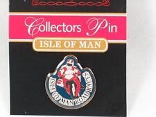 Isle of Man Motorbike road racers pin badge