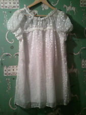 NEW ANTHROPOLOGIE~ VERY GATSBY~ WHITE MINI BABY DOLL DRESS /REG $198 (sold out)