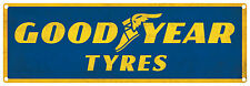 GOOD YEAR TYRES  Vintage Tin Sign Horizontal  60 x 20 cm (Blue)