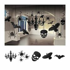 17PC Halloween Hanging Party Decoration Kit Glitter Chandelier Gothic Skull New