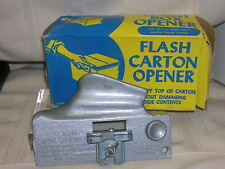 Vtg Flash Carton Opener ~ Box Opener/Cutter~1 Original Box Used By US Army Navy