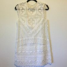 KIMCHI BLUE Urban Outfitters Mary Mac Crotchet Lace Shift Dress M Anthropologie