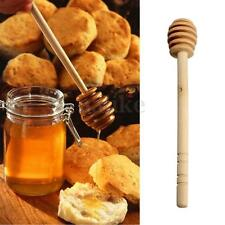 "6"" Long Wood Honey Dipper - Wooden Honny Pot Stick Spoon Dip Drizzler Server"