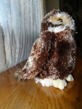 "Douglas SOFT Burrowing OWL 8"" Plush STUFFED ANIMAL Toy Brown White"