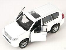 Spedizione LAMPO TOYOTA LAND CRUISER PRADO BIANCO/WHITE Welly Modello Auto 1:34 NUOVO