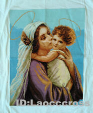 """2016 NEW finished completed Cross stitch""""ANGEL and MOTHER""""home wall decor"""