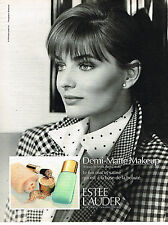 PUBLICITE ADVERTISING 025  1991  ESTEE LAUDER  cosmétiques poudre DEMI-MATTE