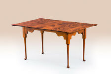 5ft Porringer Dining Table - Tiger Maple Wood -  Two 10in Leaves - American Made
