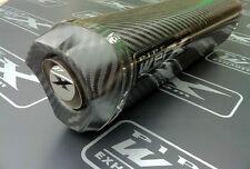Suzuki GSXR 750 K6 K7 Carbon Fibre Tri Oval Carbon Outlet Exhaust Can Road Legal