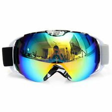Fashion Black & White Frame Anti-Fog UV Snow Snowboard Ski Goggles Double Lens