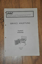Vintage Service manual GEC Model 12501 (4019G)  stereo music centre.