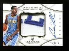 Andre Iguodala 2012-13 Immaculate Collection GU Jersey Auto Warriors Mint 30251