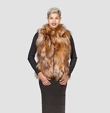 CRYSTAL FOX FUR VEST REAL FUR CLASS OF CHINCHILLA MINK SABLE LYNX