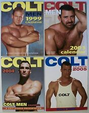 COLT MEN CALENDAR X 4 GAY EROTICA 1999 - 2005 STUNNING PHOTOGRAPHY NAKED MEN