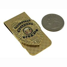 CWP CCW Concealed Weapons Carry Permit Mini Badge Money Clip Gold NEW