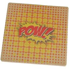 Comic Book Con POW Set of 4 Square Sandstone Coasters