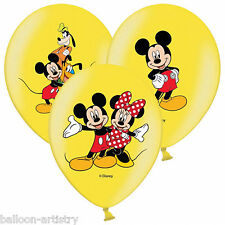6 Disney's Mickey Mouse fun jaune de luxe 4 couleurs imprimé ballons de latex