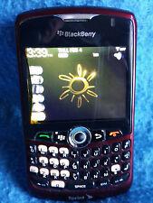 Burgandy BlackBerry Curve 8330 Sprint Smart Phone Case Charger Bluetooth