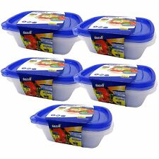6 x 750ml PLASTIC FOOD MICROWAVE CONTAINERS BOXES TUPPERWARE STORAGE KEEP FRESH