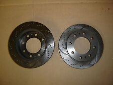 53012DS (FRONT 2pc) Sport Dimple  Slotted Brake Disc Rotor (8 wheel bolt)