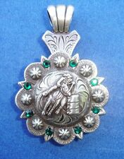 """Western Cowgirl Jewelry ~Barrel Racer~ Crystal 1 1/2"""" Concho Pendant Kit"""