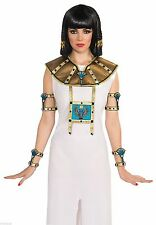 Adult Womens Egyptian Female Collar 2 Piece Cleopatra Costume Accessory NEW