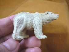 (bear-4) polar Grizzly bear of shed ANTLER figurine Bali detailed carving bears