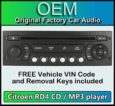 CITROEN C4 PICASSO STEREO AUTO MP3 CD PLAYER CITROEN RD4 Radio + GRATIS CODICE VIN