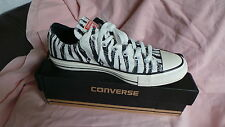 NEW in box Converse CT All Star Ox Animal trainers Size 4 EU 36.5 Egret & Black