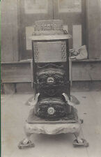 1909 RP POSTCARD GREENFIELD OH HARDWARE STORE WOOD BURNING STOVE SALE SAMPLE
