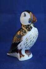ROYAL CROWN DERBY PUFFIN PAPERWEIGHT MMII - GOLD STOPPER - BOXED