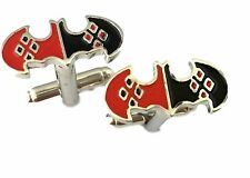 DC Comics HARLEY QUINN Logo Metal/ Enamel Finish CUFFLINKS