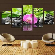 5 Panels Orchid Flower Modern Art Picture Canvas Painting Print Decor Unframed