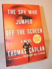THE SPY WHO JUMPED OFF THE SCREEN Thomas Caplan SIGNED 1st/1st Ed. 2012 HC/DJ