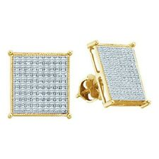 10kt Solid yellow Gold Certified Real 0.65TCW Round Single Cut Diamond Earring