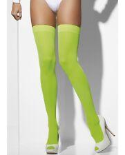 Sexy Da Donna Sopra Il Ginocchio Autoreggenti Opaque Calze Costume Verde Smiffys