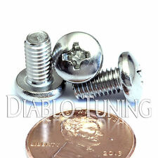 "#10-32 x 3/8"" Stainless Steel - Qty 10 - Network Server Rack Rail Mount Screws"