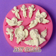 8 Angels Baby Silicone Fondant Mould Cupid Cake Decor Sugarcraft Gum Paste Mold